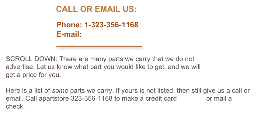 CALL OR EMAIL US: